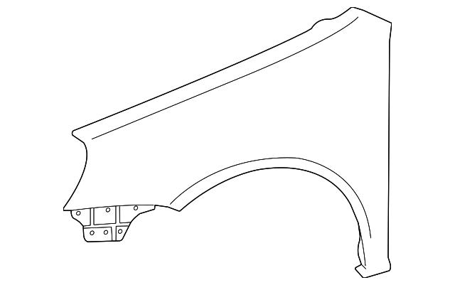 Front Left Fender Liner
